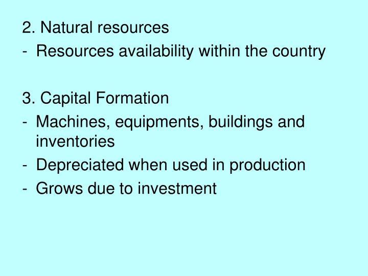 2. Natural resources