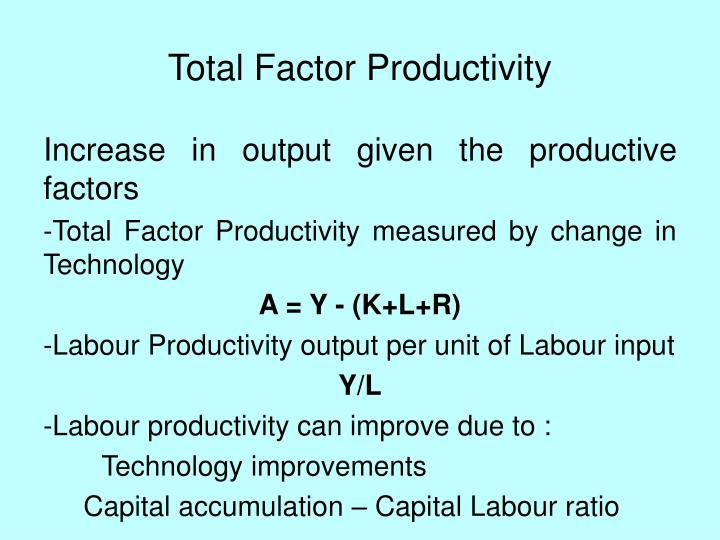 Total Factor Productivity