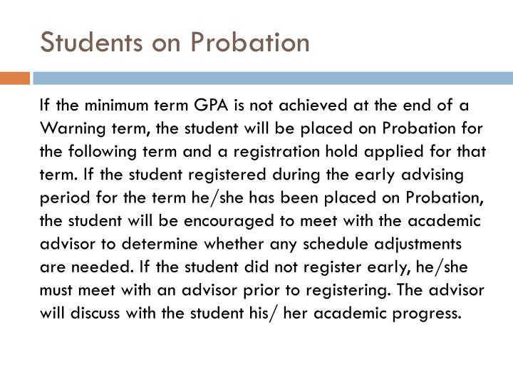 Students on Probation