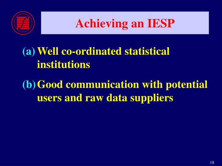Achieving an IESP