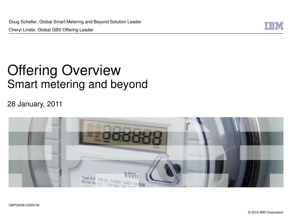 Ppt Offering Overview Smart Metering And Beyond 28 January 2011 Meter Power Solution Ic Powerpoint Presentation Id4164763