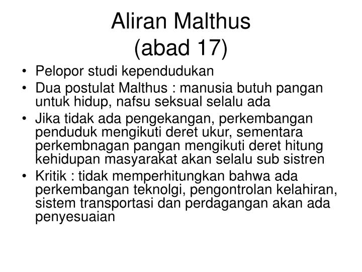 Aliran Malthus
