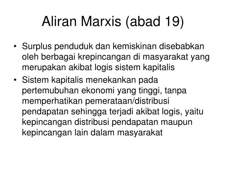 Aliran Marxis (abad 19)