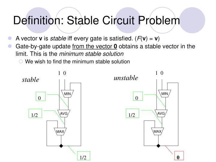 Definition: Stable Circuit Problem