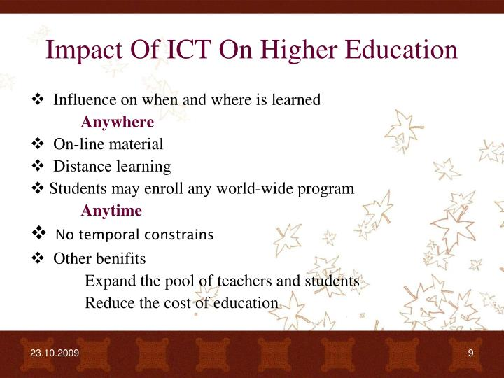 influence of ict in education