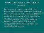 who can file a protest cont d2