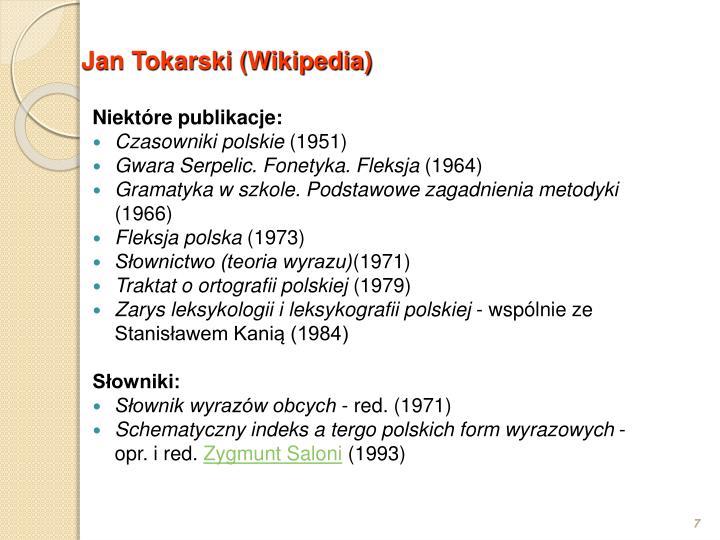Jan Tokarski (Wikipedia)