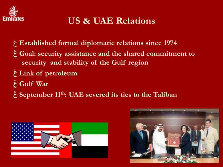 US & UAE Relations