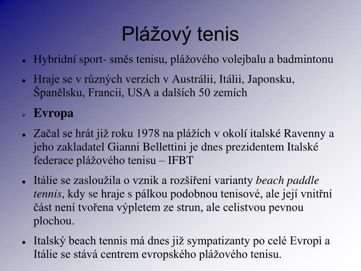 Pl ov tenis