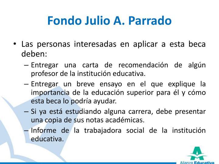 Fondo Julio A. Parrado