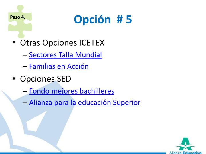 Opción  # 5