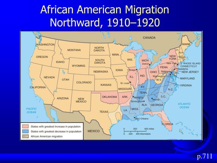 African American Migration Northward, 1910–1920