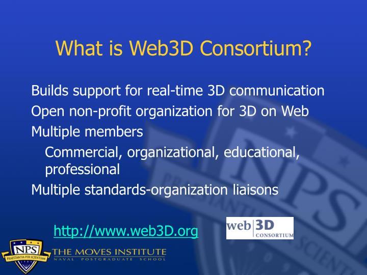 What is Web3D Consortium?