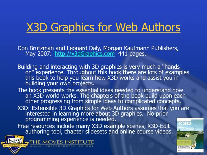 X3D Graphics for Web Authors