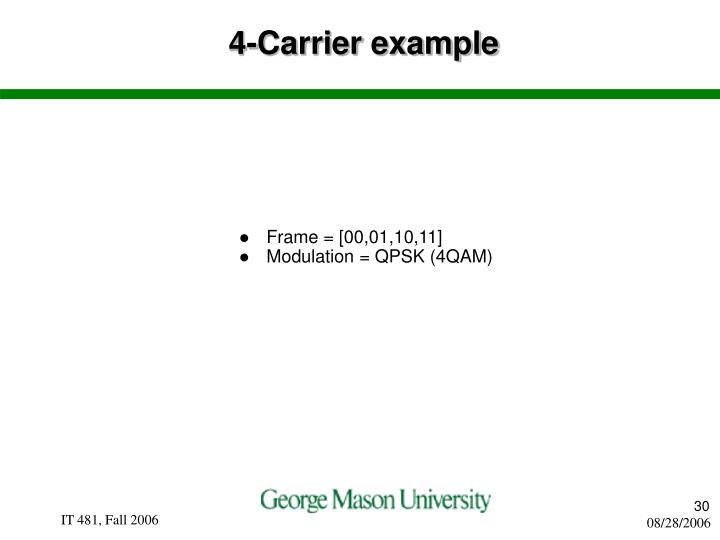 4-Carrier example