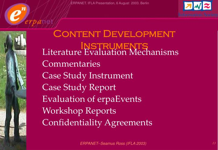 Content Development Instruments