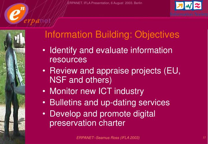 Information Building: Objectives