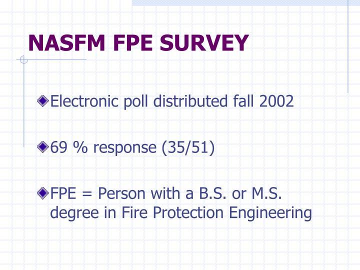 Nasfm fpe survey