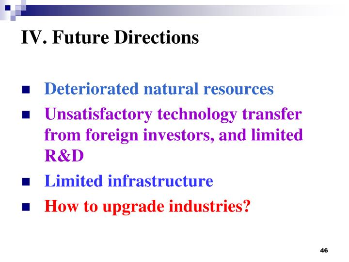IV. Future Directions