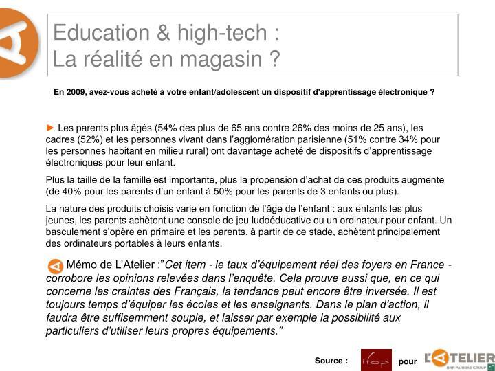 Education & high-tech :