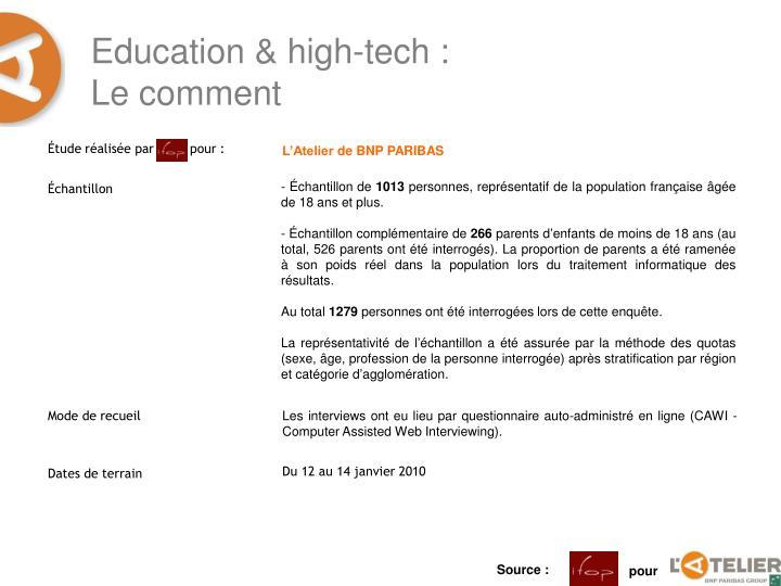 Education high tech le comment
