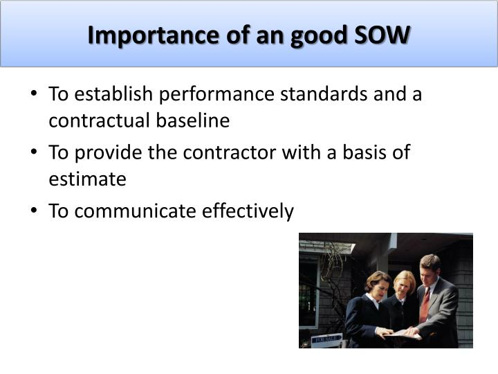 Importance of an good SOW