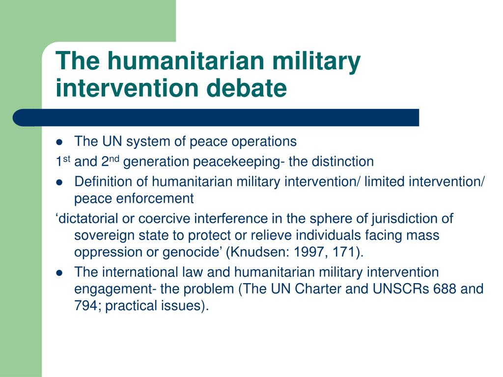 ppt - the humanitarian military intervention debate powerpoint
