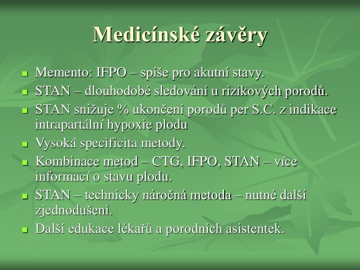 Medicínské závěry