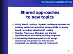 shared approaches to new topics