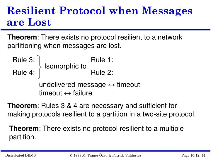 Resilient Protocol when Messages are Lost