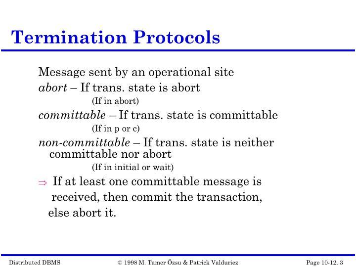 Termination protocols