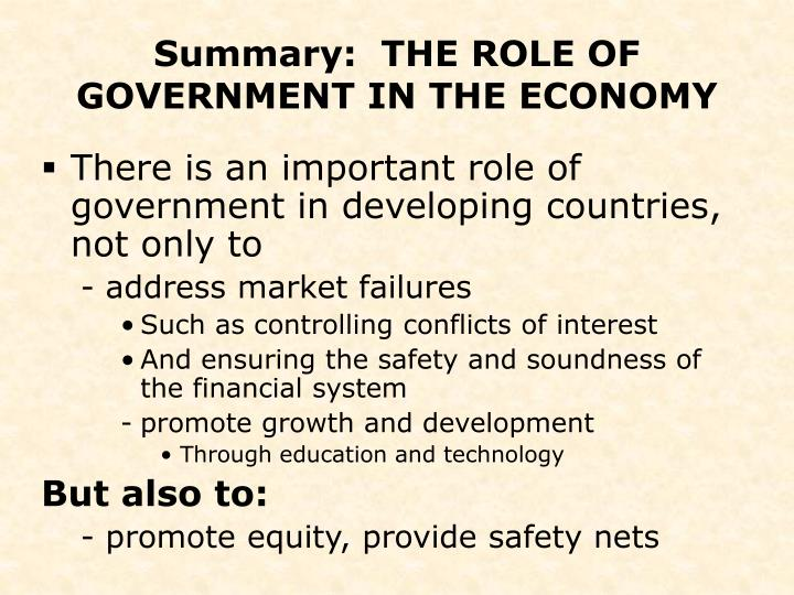 the role of government in an economy The role of government & regulatory systems (tim o'reilly  of work and the  sharing economy, check out o'reilly media's next:economy.