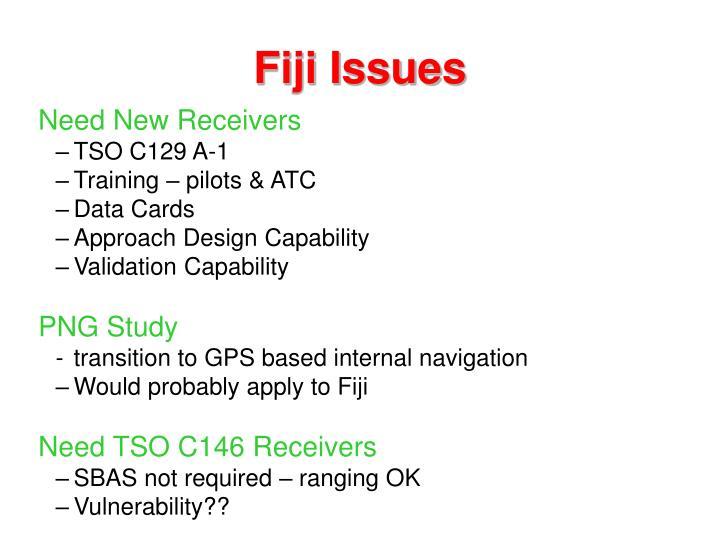 Fiji issues