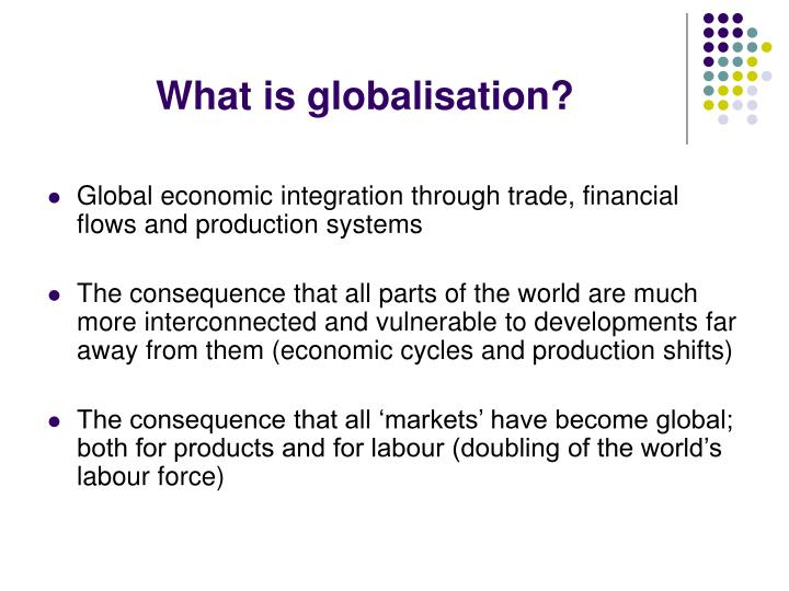 globalization and economic integration The blessings and challenges of globalization economic integration of globalization is the perception that economic liberalization has.