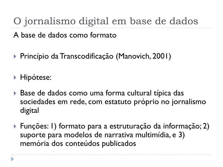 O jornalismo digital em base de dados2