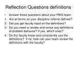 reflection questions definitions