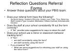 reflection questions referral forms
