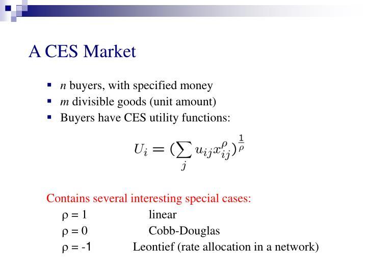 A CES Market