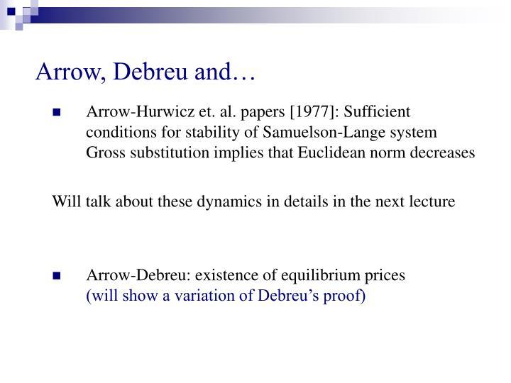 Arrow, Debreu and…