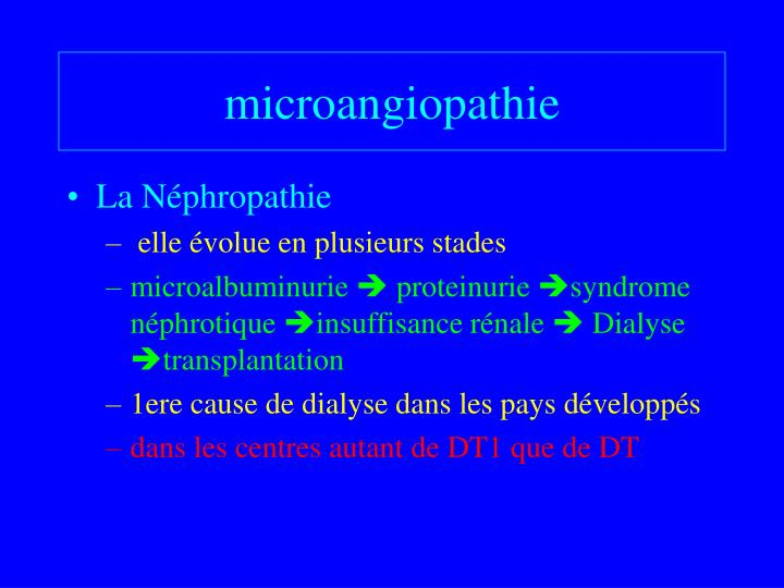 microangiopathie