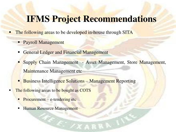 IFMS Project Recommendations