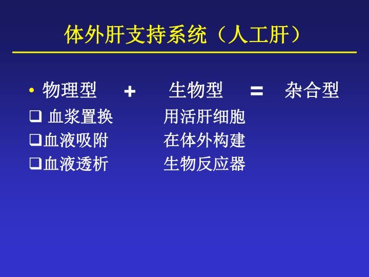体外肝支持系统(人工肝)