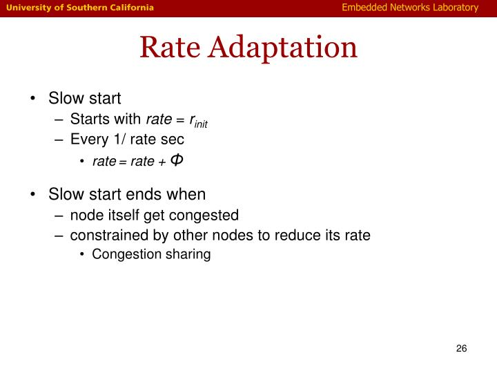 Rate Adaptation