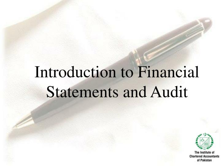 introduction to financial statements and audit n.