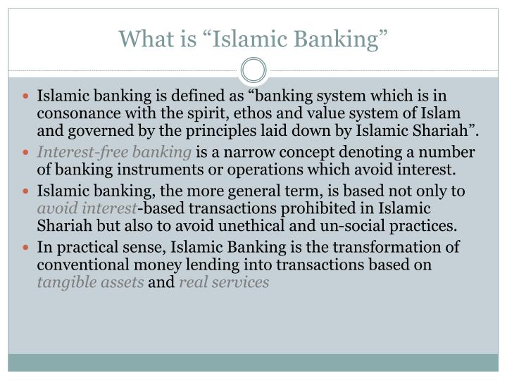 briefing paper on islamic banking system Islamic banking - is it the new alternative in this time of financial uncertaintycourse instructor: business communicationexecutive summaryi am md hasanul islam.