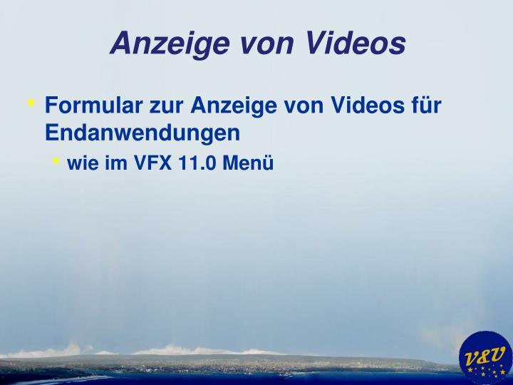 Anzeige von Videos