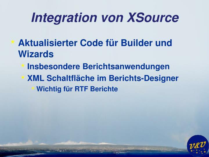 Integration von