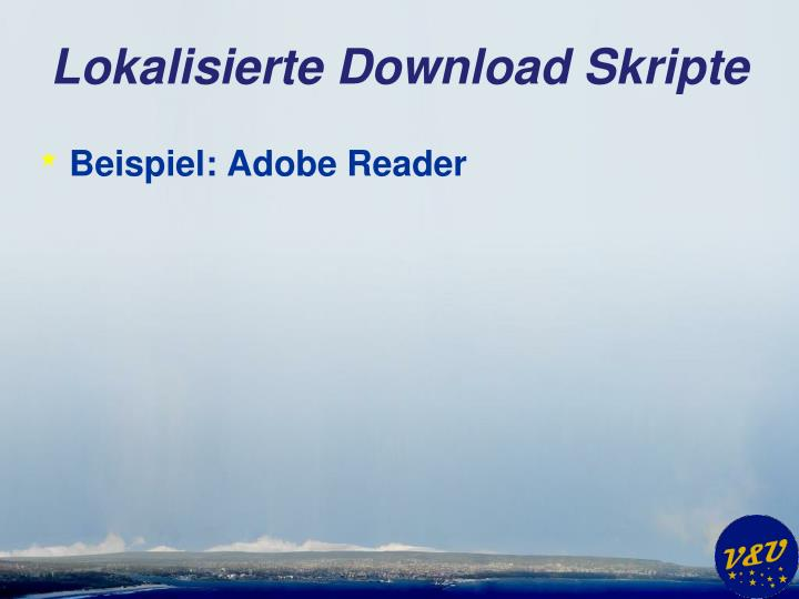 Lokalisierte Download Skripte