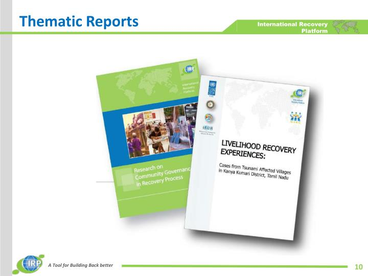 Thematic Reports