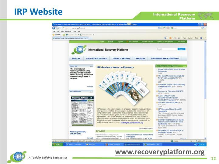 IRP Website